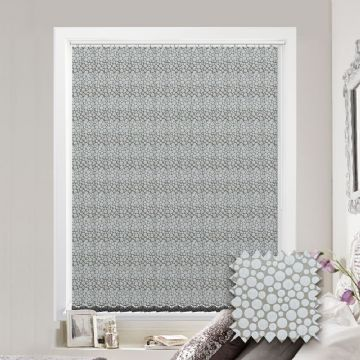 Made to Measure Polka Silver Vertical Blind